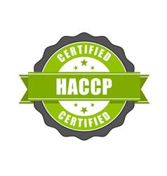 haccp certified - quality standard seal hazard vector image