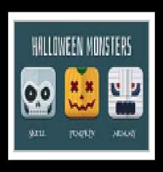 Halloween Monster Icon Set vector image