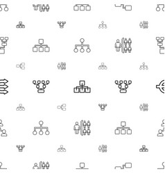 hierarchy icons pattern seamless white background vector image
