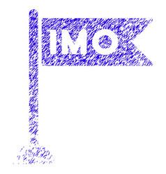 Imo flag icon grunge watermark vector