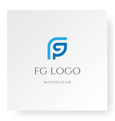initial letter fg gf monogram logo design vector image