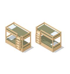 Isometric interior children room or hostel room vector