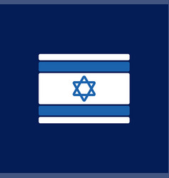 israel flag isolated israeli banner ribbon jewish vector image