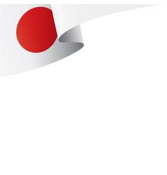 Japan flag on a white vector