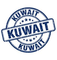 Kuwait blue grunge round vintage rubber stamp vector