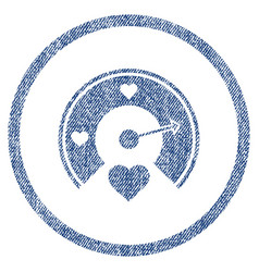 love gauge rounded fabric textured icon vector image