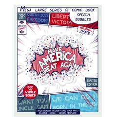Make america great again motivation slogan vector