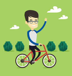 man riding bicycle vector image