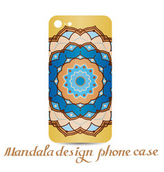 mandala design phone case vector image