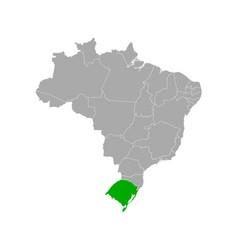 Map rio grande do sul in brazil vector