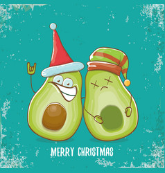 Merry christmas funky greeting card vector