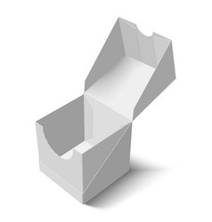 mock up of the packing box a box with an open lid vector image