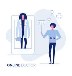 online doctor 3 vector image