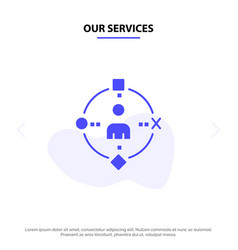 Our services ambient user technology experience vector
