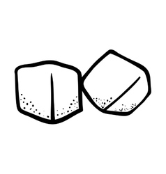 Outline ice cube cold frozen vector