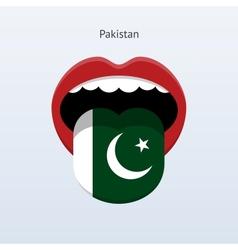 Pakistan language abstract human tongue vector