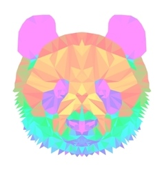 panda2 head polygon isolated vector image