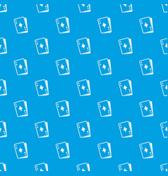 playing card pattern seamless blue vector image