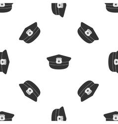 Police cap icon vector