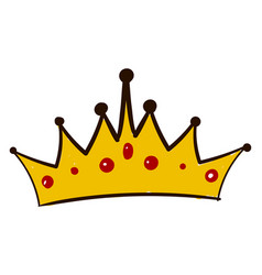 princess crown on white background vector image