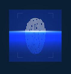 process fingerprint digital biometric vector image