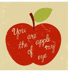 retro apple of my eye vector image