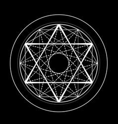Sacred geometry david star symbol vector