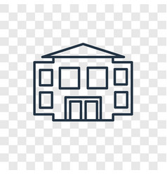 School concept linear icon isolated on vector