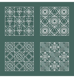 set geometric hipster shapes 4477 vector image