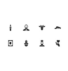 Set of 8 editable dyne icons includes symbols vector
