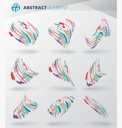 Set of modern style abstract with composition vector