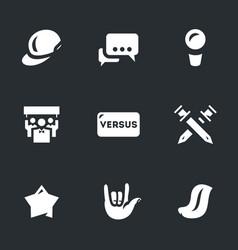 Set rap battle icons vector