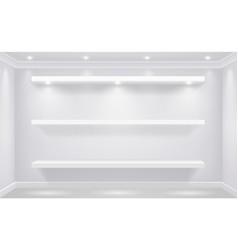 Shop-window shelf for goods vector