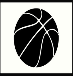 Silhouette basketball vector
