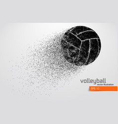 Silhouette of volleyball ball vector