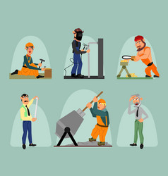 Six workers set vector