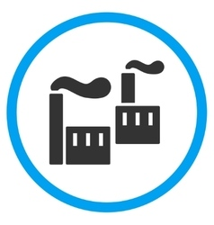 Smoking Industry Rounded Icon vector