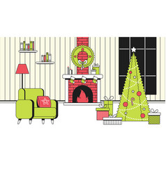soft color new year christmas flat cartoon vector image
