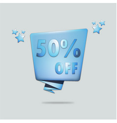 Special offer 50 off vector