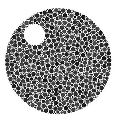Sphere collage of filled circles vector