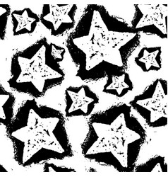 star seamless patterntextile ink brush strokes vector image