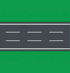 Straight road on a green background vector