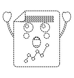 Suprised graph chart kawaii icon image vector