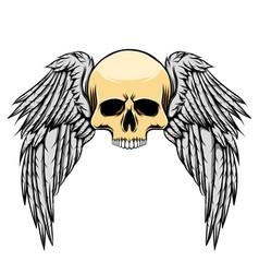 tattoo inspiration scary dead skull vector image