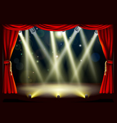 Theater stage lights vector