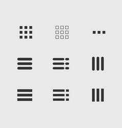 Ui menu icons set vector