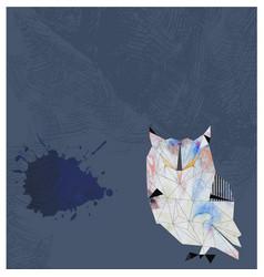 Watercolor owl background vector