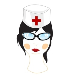 Woman physician on white vector