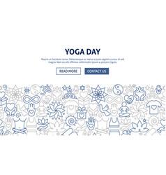 Yoga day banner design vector