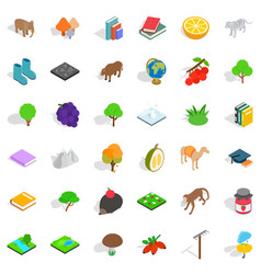 animal icons set isometric style vector image vector image